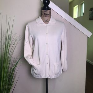 tommy bahama sweater cardigan silk/cotton blend